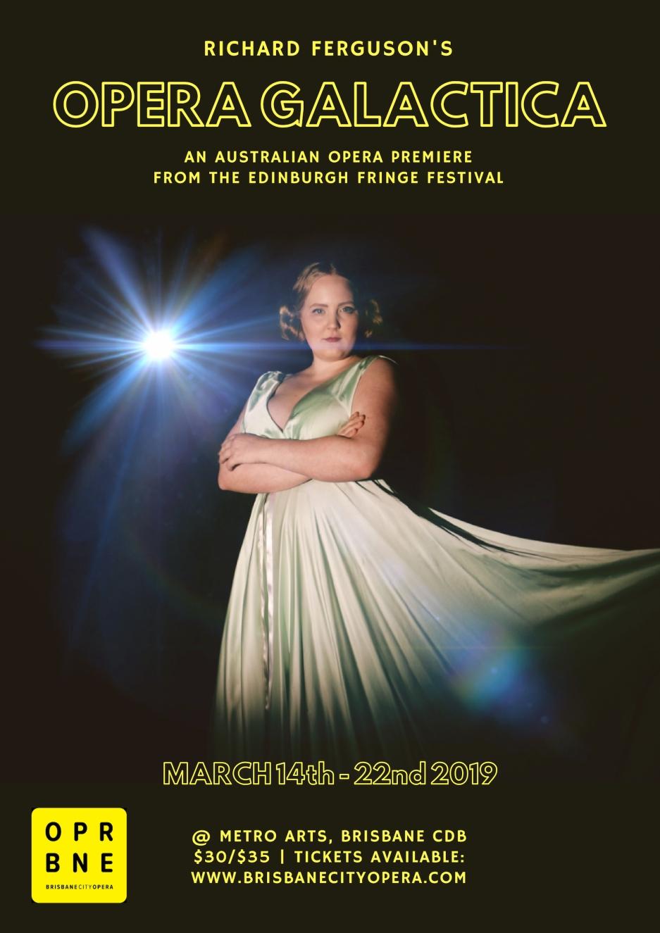 opera galactica - poster